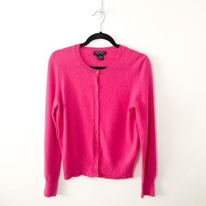 Lord & Taylor Pink Cashmere Button Down Cardigan M